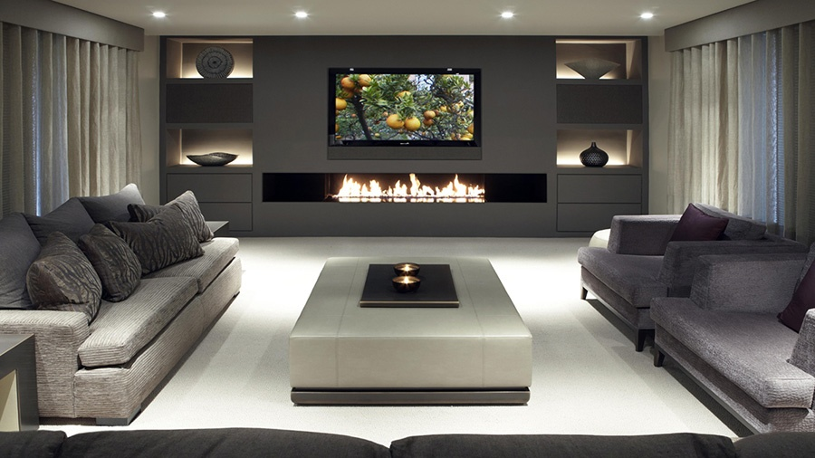 TV Installation Above Fireplace — Home Theater Houston