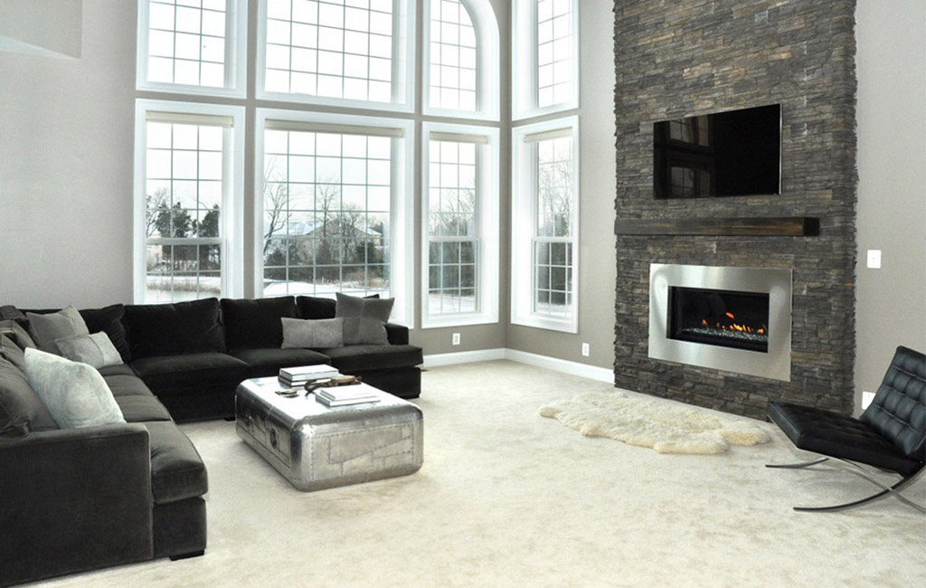 tv installation above fireplace